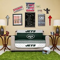 New York Jets Quilted Loveseat Cover
