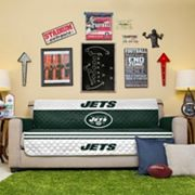 New York Jets Quilted Sofa Cover