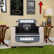 Oakland Raiders Quilted Chair Cover