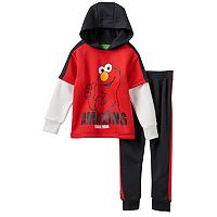 Baby Boy Elmo Mock-Layered Fleece-Lined Hoodie & Pants Set