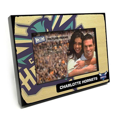 """Charlotte Hornets 4"""" x 6"""" Wooden Frame"""