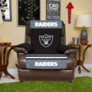 Oakland Raiders Quilted Recliner Chair Cover