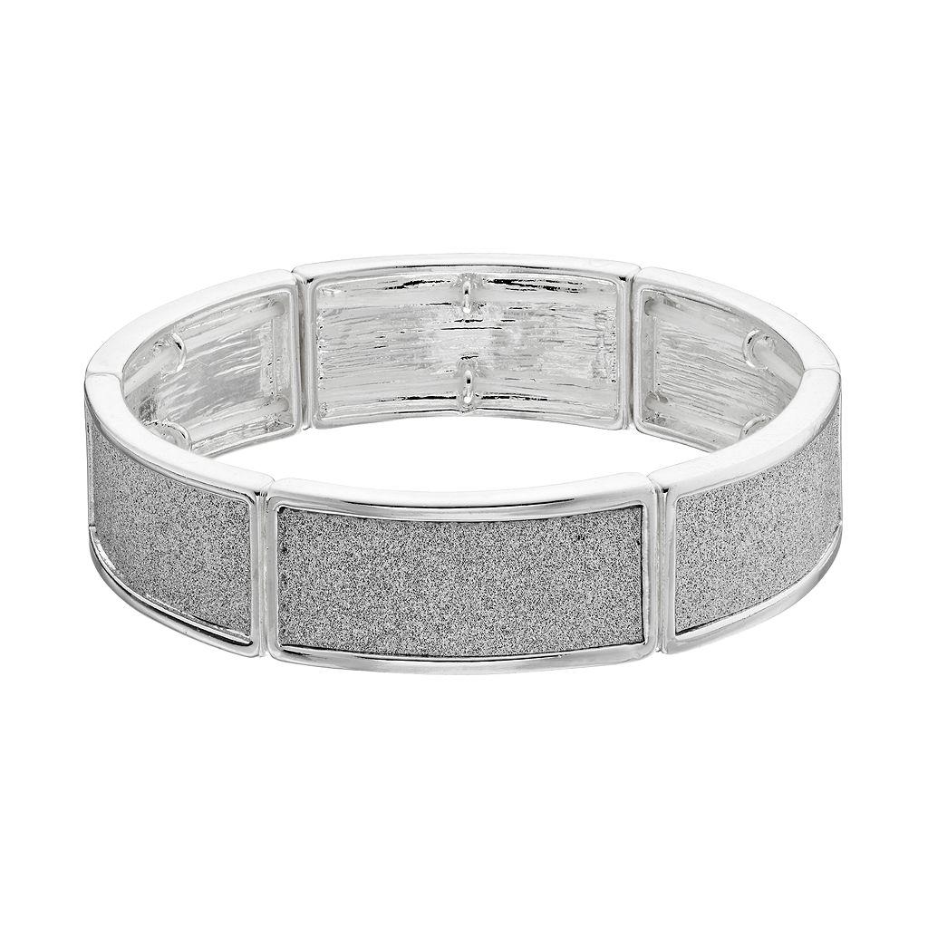 Glittery Curved Bar Stretch Bracelet