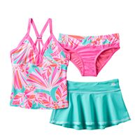 Girls 7-16 ZeroXposur 3-pc. Fantasia Tankini Swimsuit Set