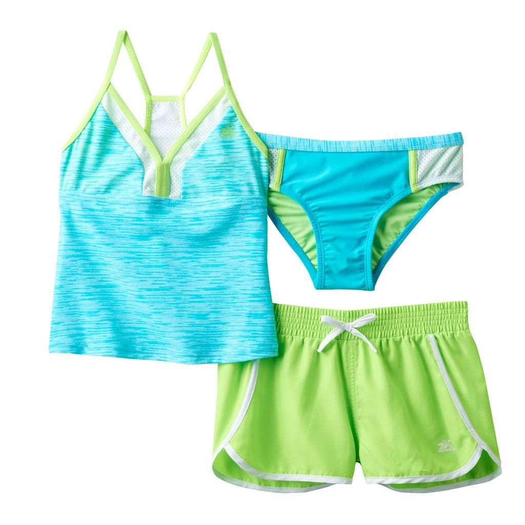 Girls 7-16 ZeroXposur 3-pc. Outer Spaced Tankini Swimsuit Set