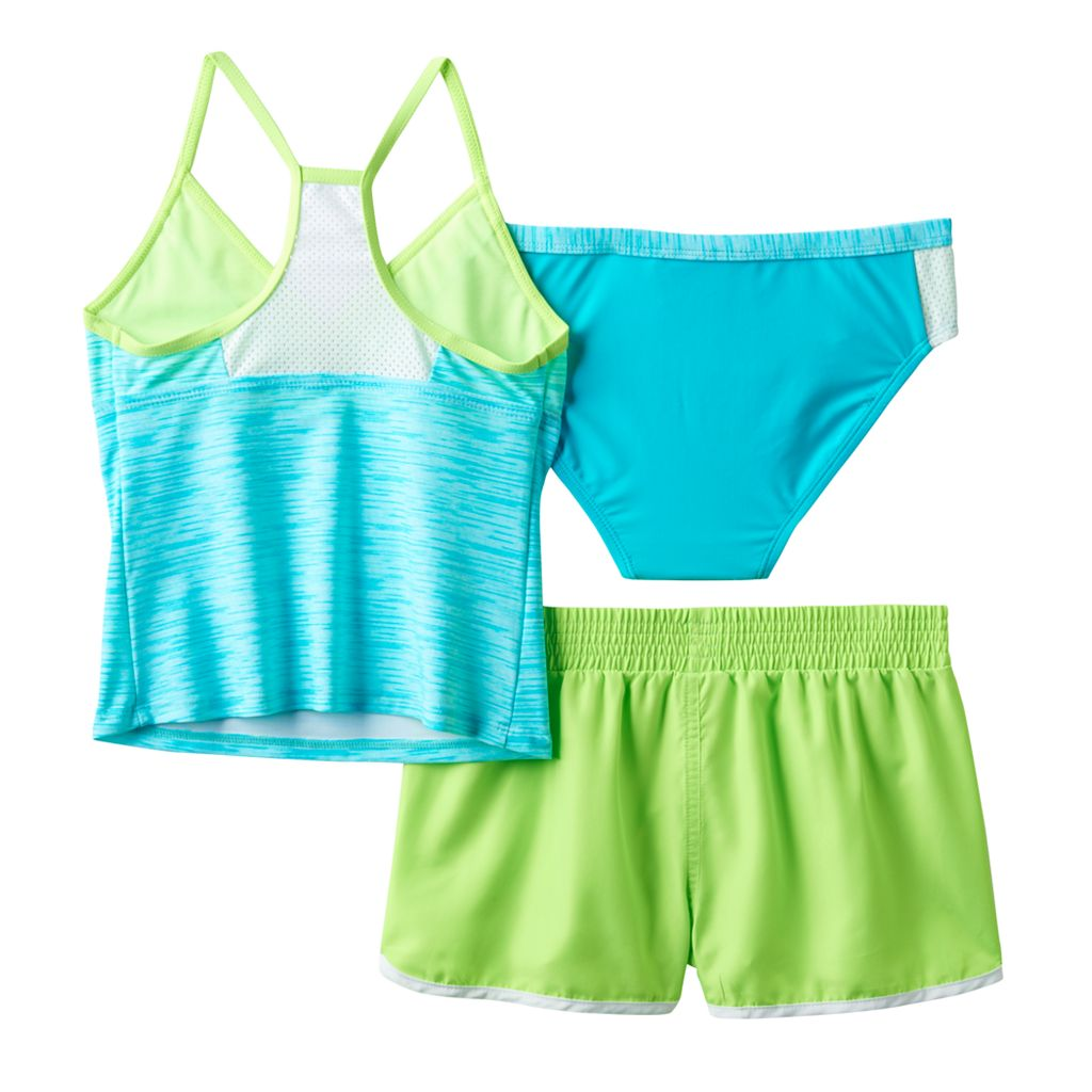 Girls 7-16 ZeroXposur 3-pc. Outer Spaced Tankini Swimsuit Set