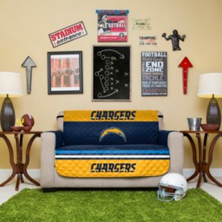 San Diego Chargers Quilted Loveseat Cover