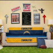 San Diego Chargers Quilted Sofa Cover