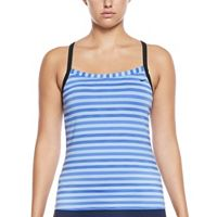 Women's Nike Static Striped Racerback Tankini Top