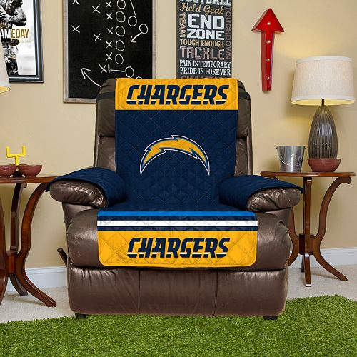 San Diego Chargers Quilted Recliner Chair Cover