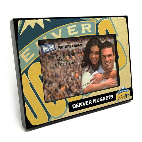 "Denver Nuggets 4"" x 6"" Wooden Frame"