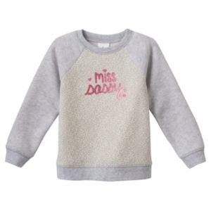 Baby Girl Jumping Beans® Glittery Fleece Sweatshirt