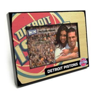 """Detroit Pistons 4"""" x 6"""" Wooden Frame"""
