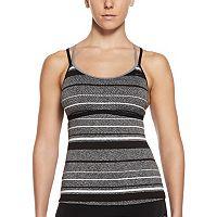 Women's Nike Filtered Striped Crossback Tankini Top