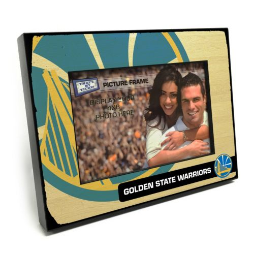 Golden State Warriors 4 x 6 Wooden Frame