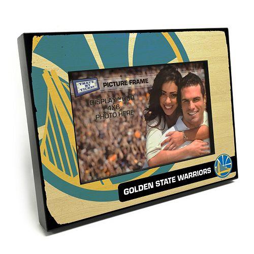 """Golden State Warriors 4"""" x 6"""" Wooden Frame"""