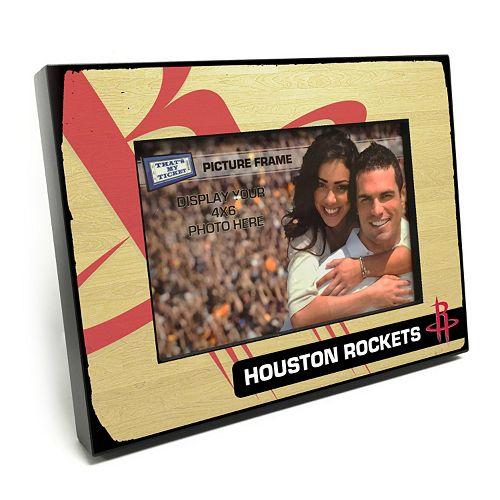"Houston Rockets 4"" x 6"" Wooden Frame"