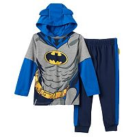 Toddler Boy DC Comics Batman Hooded Tee & Fleece-Lined Jogger Pants Set