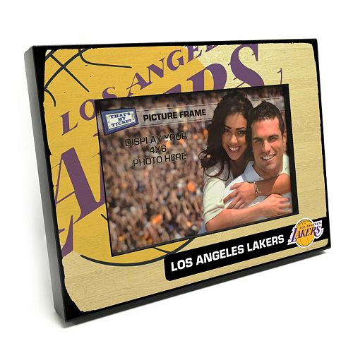 "Los Angeles Lakers 4"" x 6"" Wooden Frame"