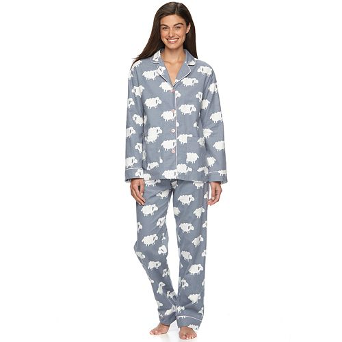3939fd3177 Women s Star   Skye Pajamas  Flannel Notch PJ Set