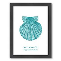 Americanflat Scallop Framed Wall Art
