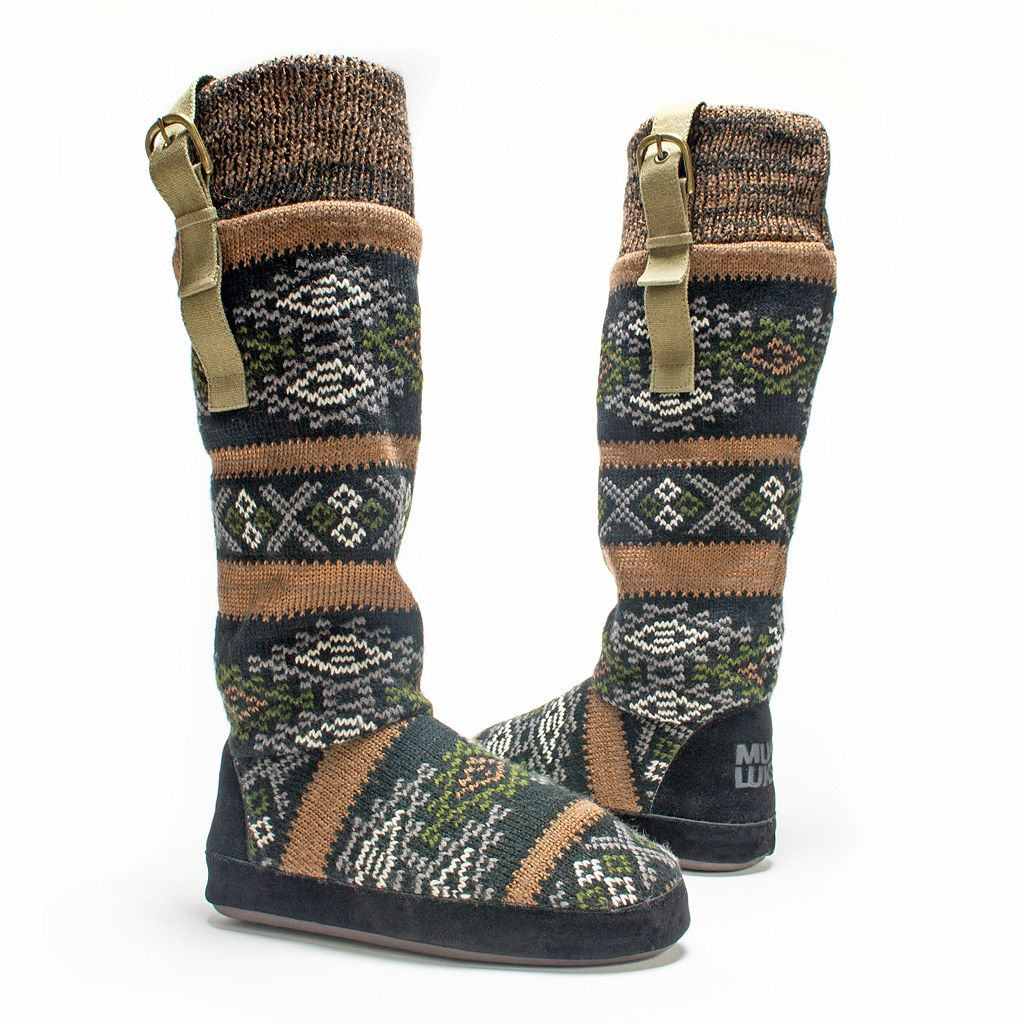 MUK LUKS Women's Angela Boot Slippers