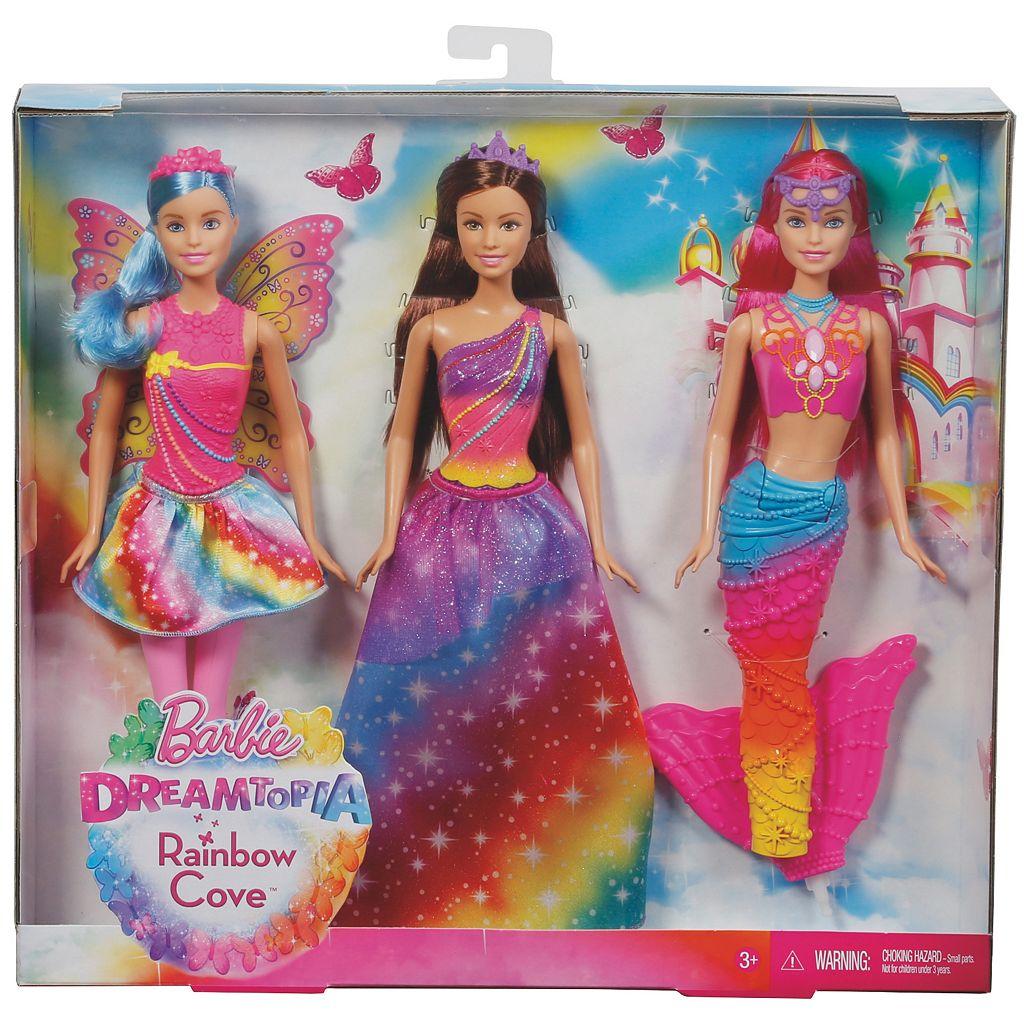 Barbie Dreamtopia Rainbow Cove Fairy, Princess & Mermaid Doll Set