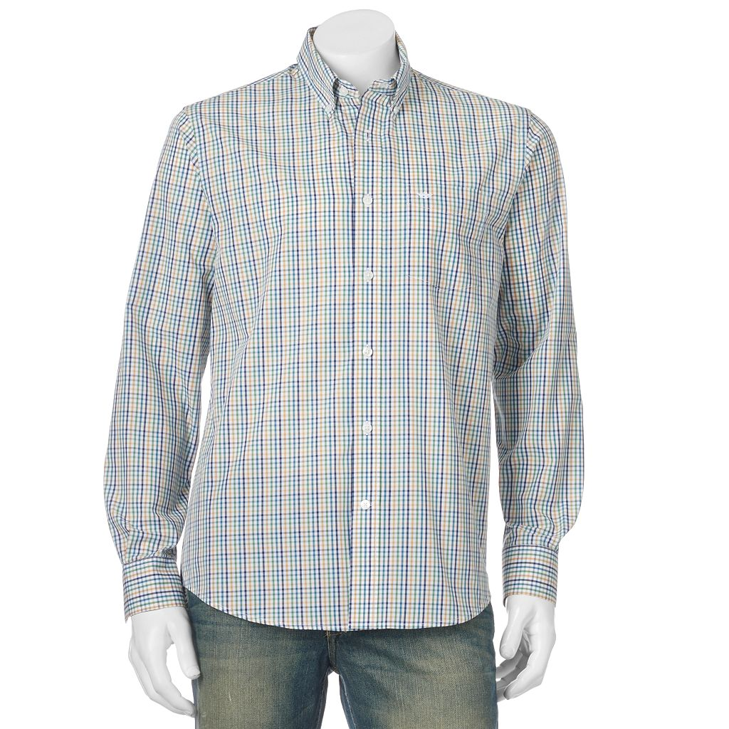 Men's Dockers® No-Wrinkle Patterned Button-Down Shirt