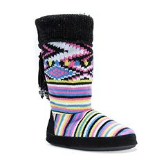MUK LUKS Women's Winona Cuffed Boot Slippers