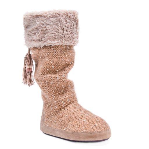 MUK LUKS Women's Winona Cuffed Boot Slippers