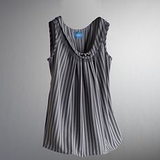 Simply Vera Vera Wang Striped Woven Top :  blouse vera wang tulle gray