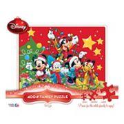 Disney's Mickey Mouse Christmas Thomas Kinkade 400 pc Jigsaw Puzzle