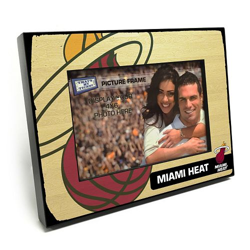 "Miami Heat 4"" x 6"" Wooden Frame"