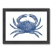Americanflat Crab Quad 3 Framed Wall Art