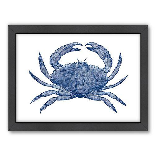 Americanflat Crab Quad 3 Framed Wall Art