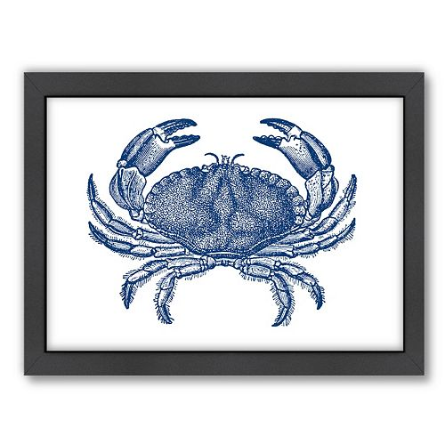 Americanflat Crab Quad 4 Framed Wall Art