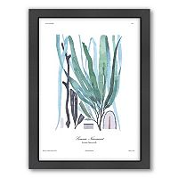 Americanflat French Kelp Blue Framed Wall Art