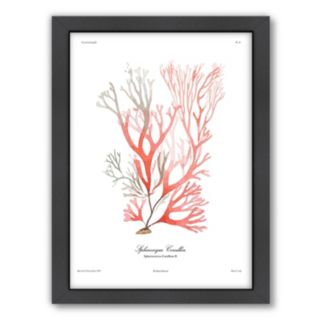 Americanflat French Kelp Red Framed Wall Art