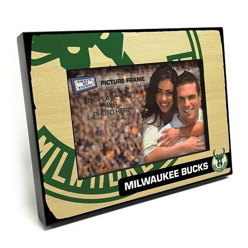 "Milwaukee Bucks 4"" x 6"" Wooden Frame"