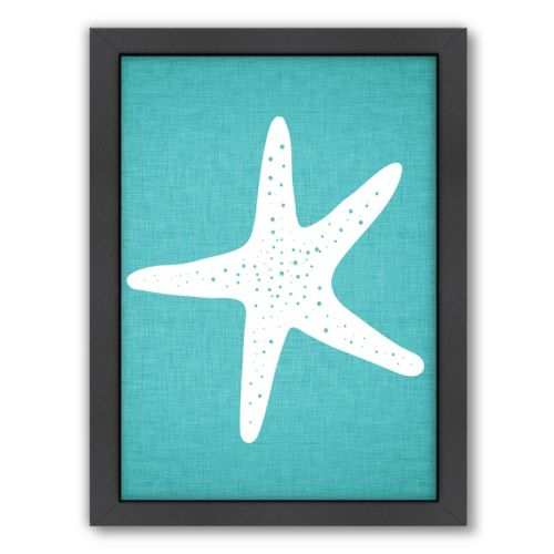 Americanflat Linen Starfish Framed Wall Art