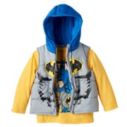 Toddler Boy DC Comics Batman Puffer Vest & Tee Set