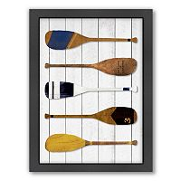Americanflat Oars Framed Wall Art