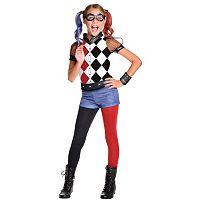 Kids DC Super Hero Girls Harley Quinn Deluxe Costume