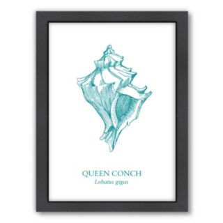 Americanflat Conch Framed Wall Art