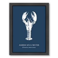 Americanflat Lobster Framed Wall Art
