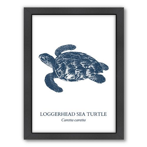 Americanflat Sea Turtle Framed Wall Art
