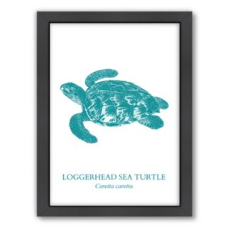 Americanflat Sea Turtle Framed Wall Art