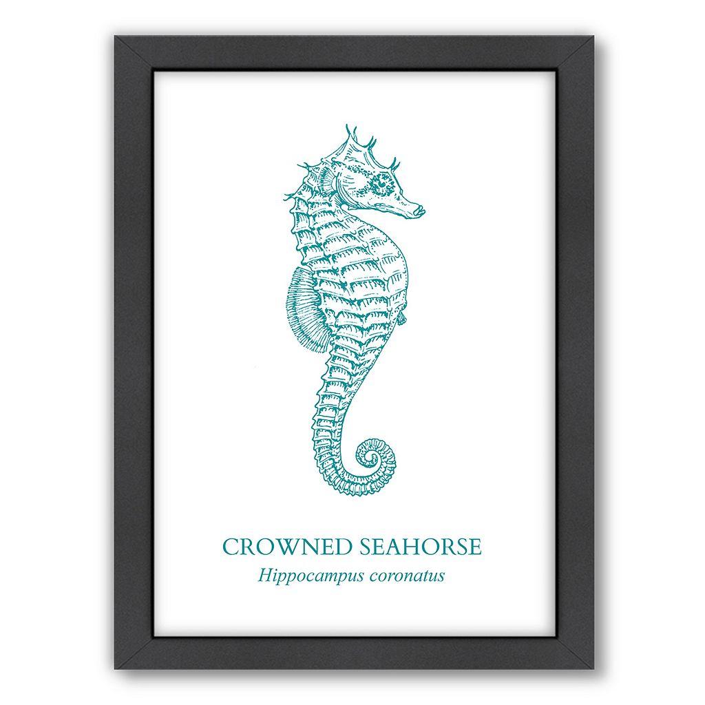 Americanflat Seahorse Framed Wall Art