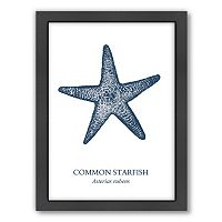 Americanflat Starfish Framed Wall Art
