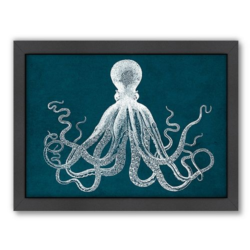 Americanflat Octopus Framed Wall Art